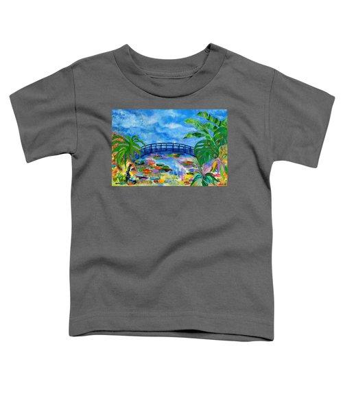 A Dinosaur In Monet's Garden Toddler T-Shirt