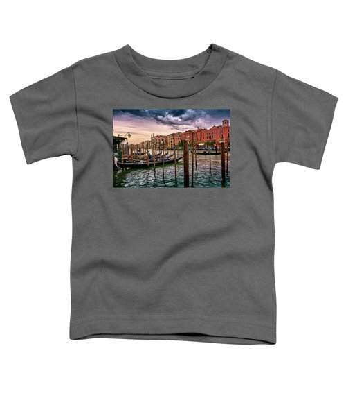 Vintage Buildings And Dramatic Sky, A Dreamlike Seascape In Venice Toddler T-Shirt