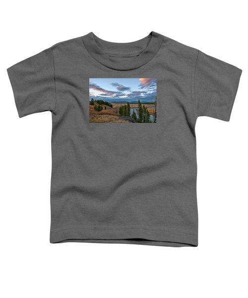 A Fall Evening In Hayden Valley Toddler T-Shirt