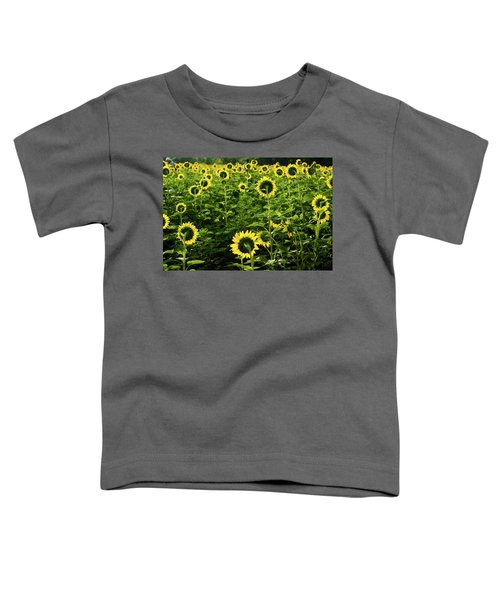 A Flock Of Blooming Sunflowers Toddler T-Shirt