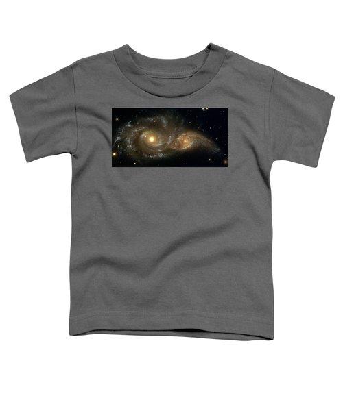 A Grazing Encounter Between Two Spiral Galaxies Toddler T-Shirt