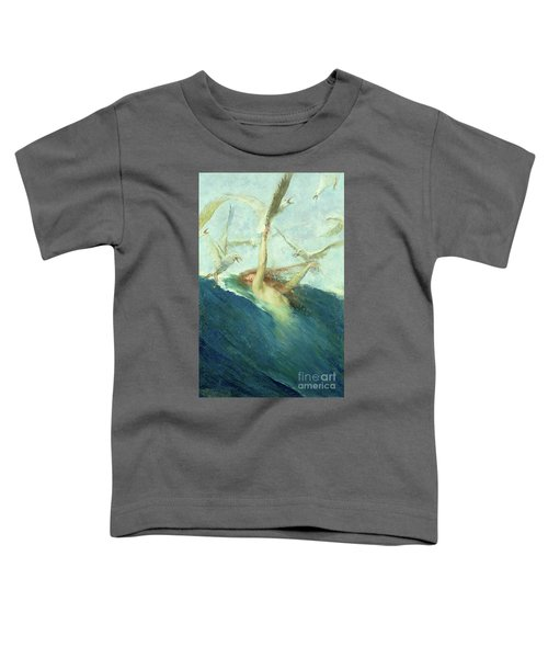 A Mermaid Being Mobbed By Seagulls Toddler T-Shirt