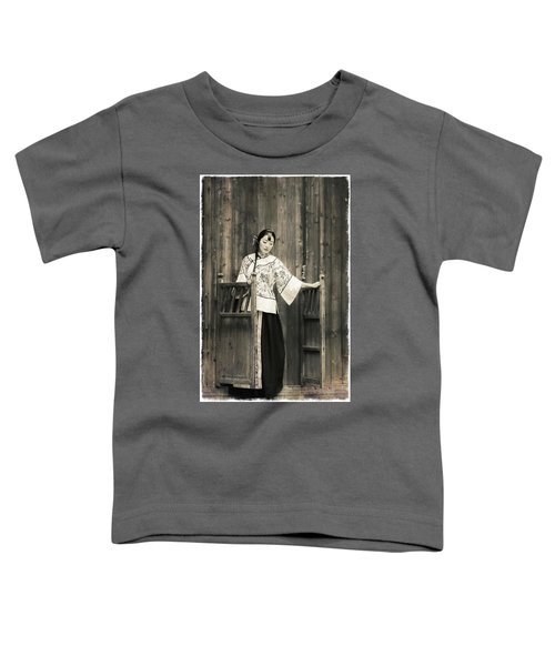 A Model In A Period Costume. Toddler T-Shirt