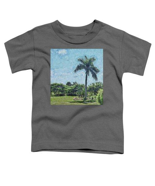 A Monet Palm Toddler T-Shirt