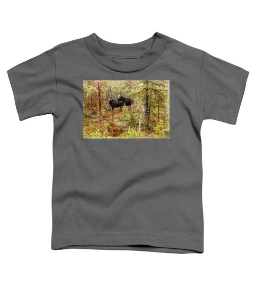 A Mother And Calf Moose. Toddler T-Shirt
