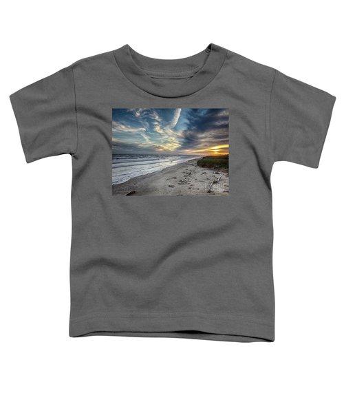 A Peaceful Beach Sunset Toddler T-Shirt