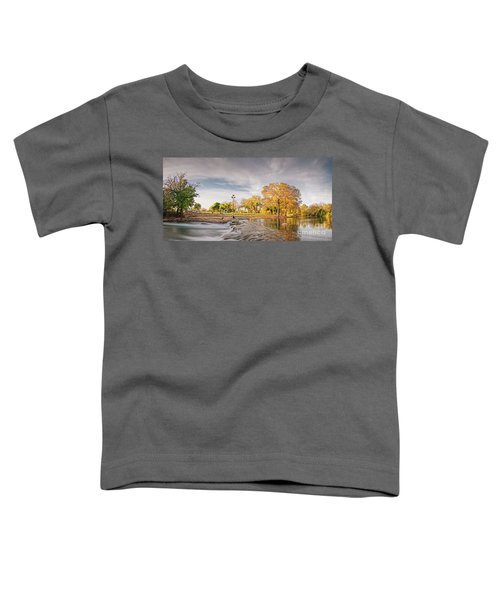 A Peaceful Fall Afternoon At Rio Vista Dam Park - San Marcos Hays County Texas Hill Country Toddler T-Shirt