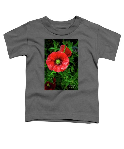 A Red Hollyhock Toddler T-Shirt
