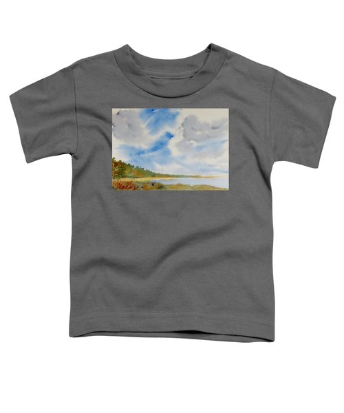 A Secluded Inlet Beneath Billowing Clouds Toddler T-Shirt