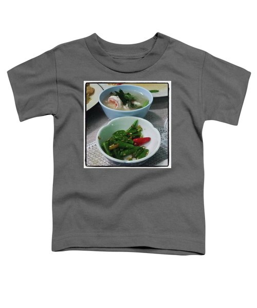 Toddler T-Shirt featuring the photograph A Side Of Tom Yum Goon With Your by Mr Photojimsf