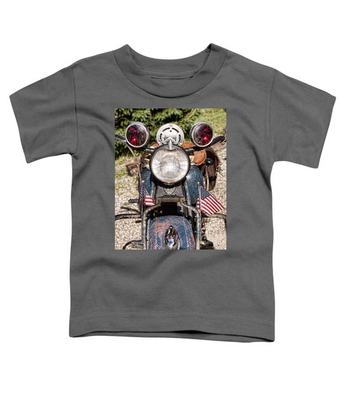 A Very Old Indian Harley-davidson Toddler T-Shirt by James BO  Insogna