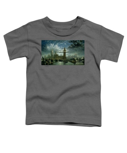 A View Of Westminster Abbey And The Houses Of Parliament Toddler T-Shirt by John MacVicar Anderson