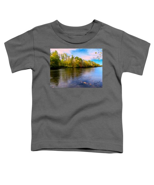 A Wide Scenic View Of Shetucket River. Toddler T-Shirt