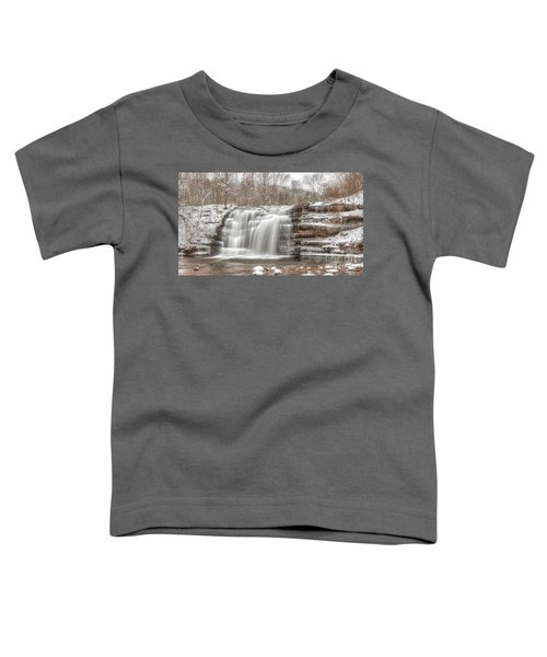 A Winter Waterfall - Color Toddler T-Shirt