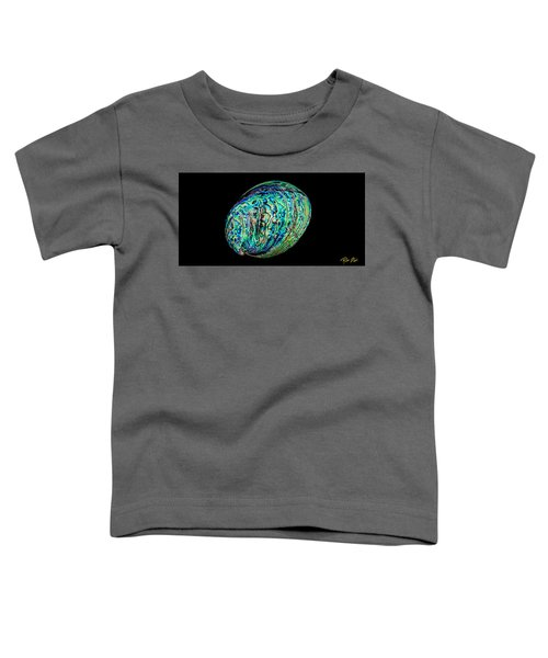 Abalone On Black Toddler T-Shirt