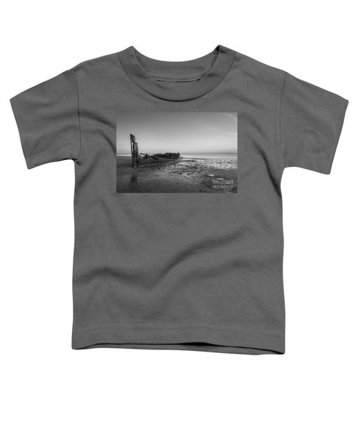 Abandoned Boat Bw Toddler T-Shirt