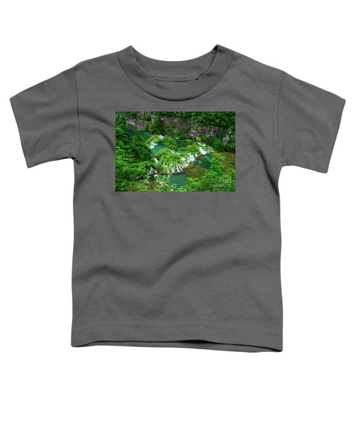 Above The Paths And Waterfalls At Plitvice Lakes National Park, Croatia Toddler T-Shirt