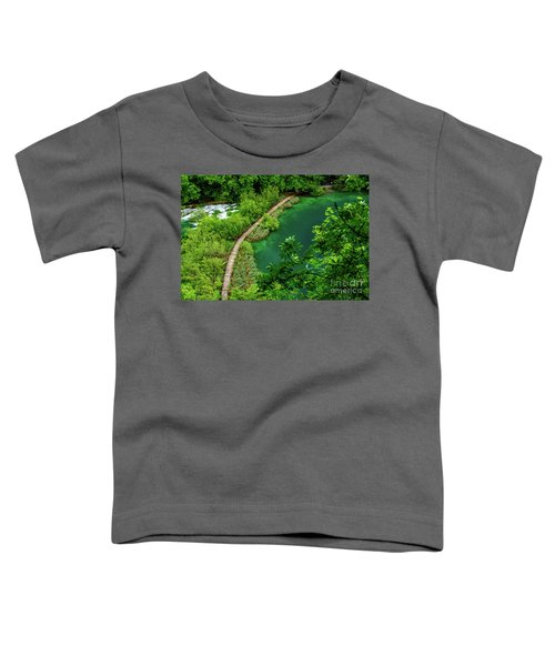 Above The Paths At Plitvice Lakes National Park, Croatia Toddler T-Shirt