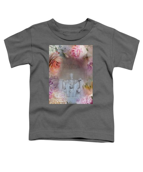 Abraham Lincoln Memorial At Spring Toddler T-Shirt by Marianna Mills