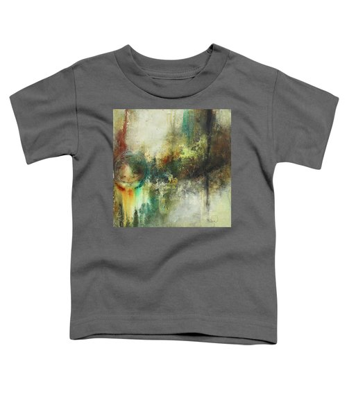 Abstract Art With Blue Green And Warm Tones Toddler T-Shirt