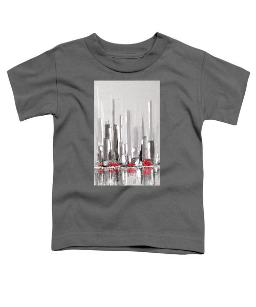 Abstract Cityscape Painting - 1 Toddler T-Shirt