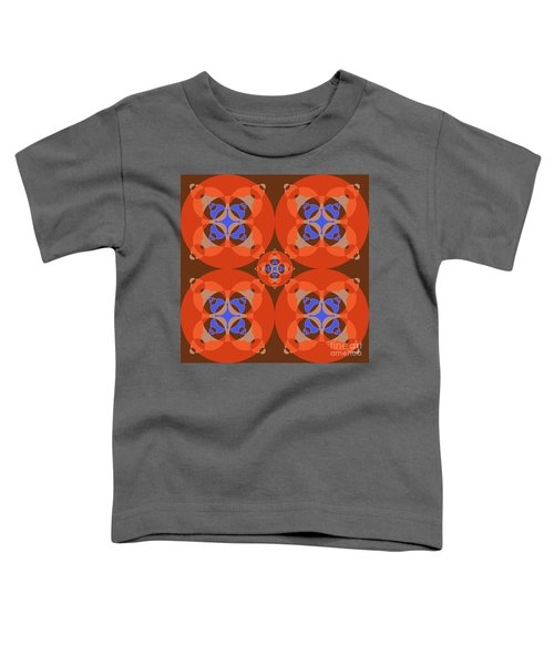 Abstract Mandala Orange, Brown, Blue And Cyan Pattern For Home Decoration Toddler T-Shirt