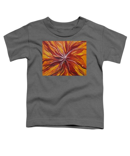 Abstract Orange Flower Toddler T-Shirt