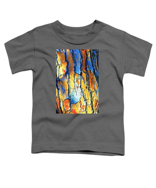Abstract Saturated Tree Bark Toddler T-Shirt