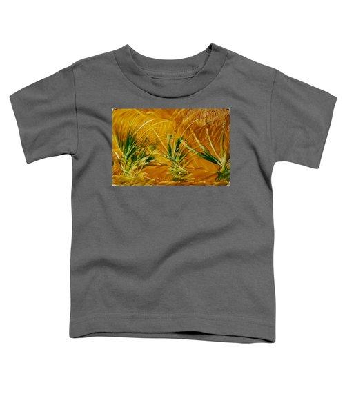 Abstract Yellow, Green Fields   Toddler T-Shirt