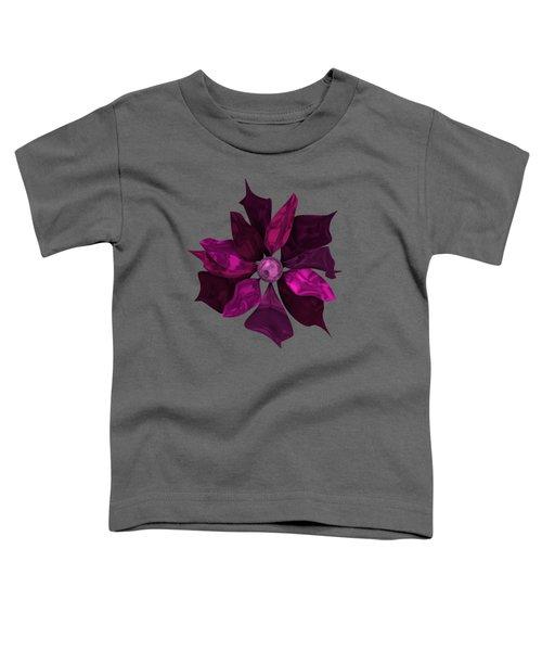Abstrct Violet Flower Toddler T-Shirt