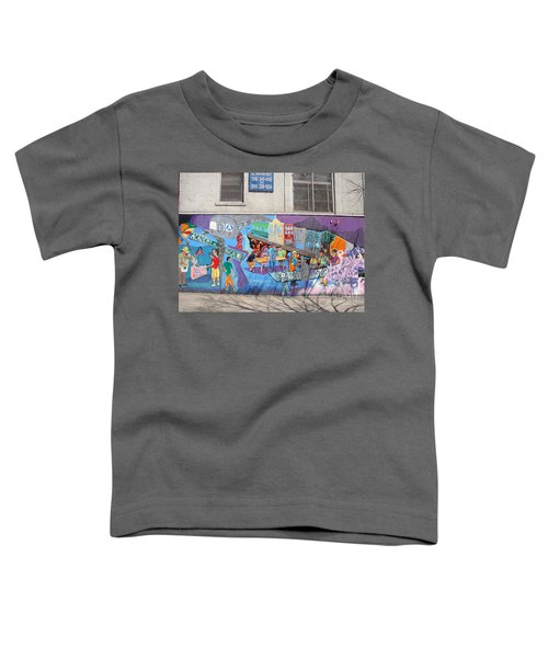 Academy Street Mural Toddler T-Shirt by Cole Thompson