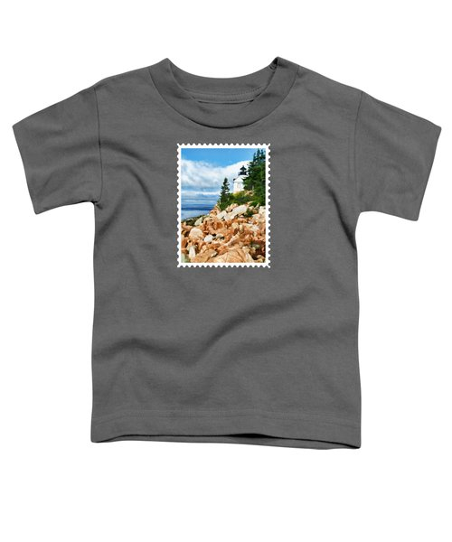 Acadia Bass Harbor Head Lighthouse On Mt Desert Island Maine Toddler T-Shirt