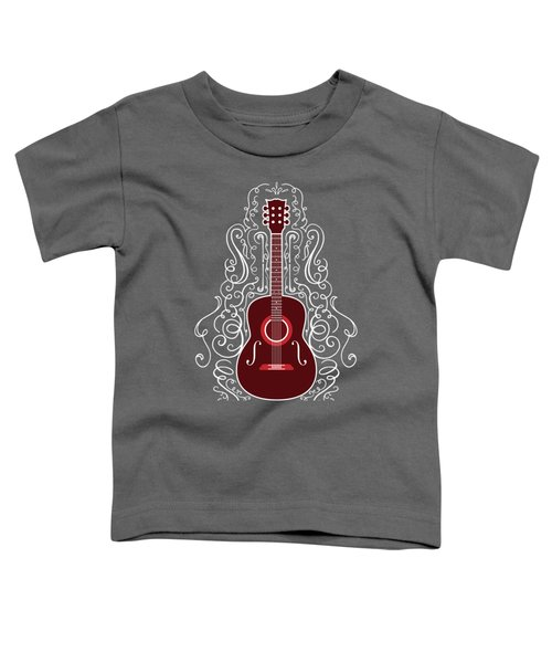 Acoustic Guitar With Scroll Design Toddler T-Shirt