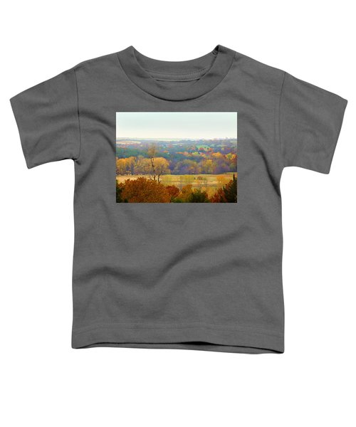 Across The River In Autumn Toddler T-Shirt