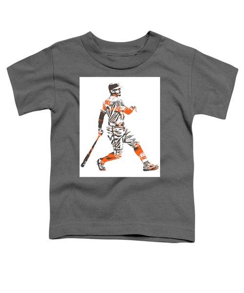 Adam Jones Baltimore Orioles Pixel Art 11 Toddler T-Shirt