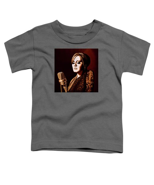 Adele Skyfall Gold Toddler T-Shirt by Paul Meijering