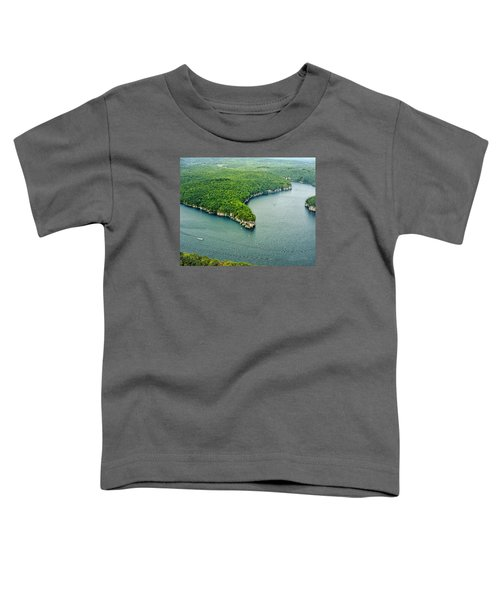Aerial Image Of  Long Point Cliff Toddler T-Shirt