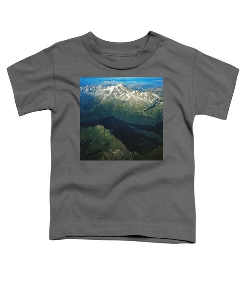 Aerial Photograph Of The Swiss Alps Toddler T-Shirt