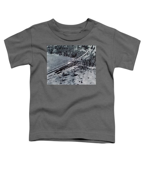 Aerial Train Wreck Toddler T-Shirt
