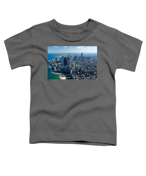 Aerial View Of A City, Lake Michigan Toddler T-Shirt