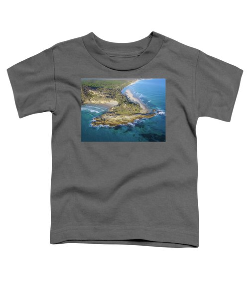 Aerial View Of North Point, Moreton Island Toddler T-Shirt