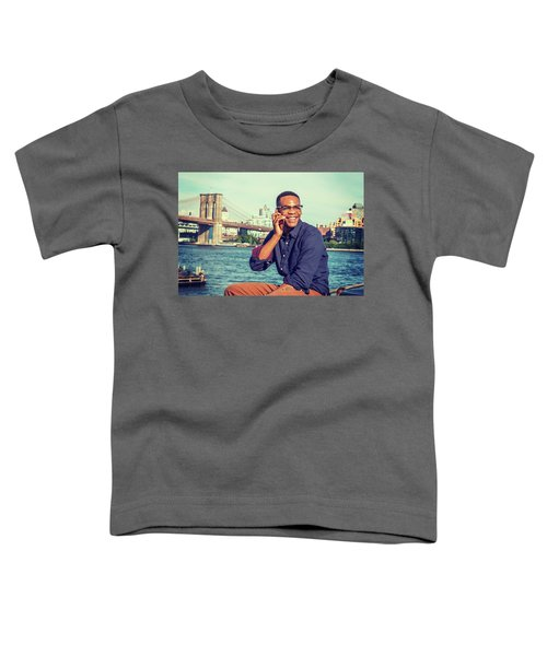 African American Man Traveling In New York Toddler T-Shirt