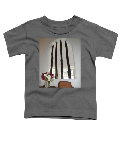 African Table With Flowers And Hat Toddler T-Shirt