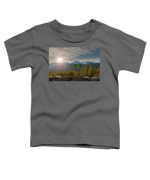 Afternoon Sun Over Tantalus Range From Lookout Toddler T-Shirt