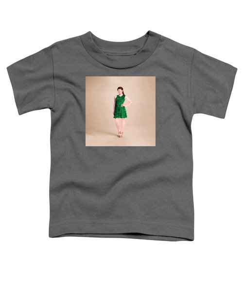 Toddler T-Shirt featuring the digital art Ainsley by Nancy Levan