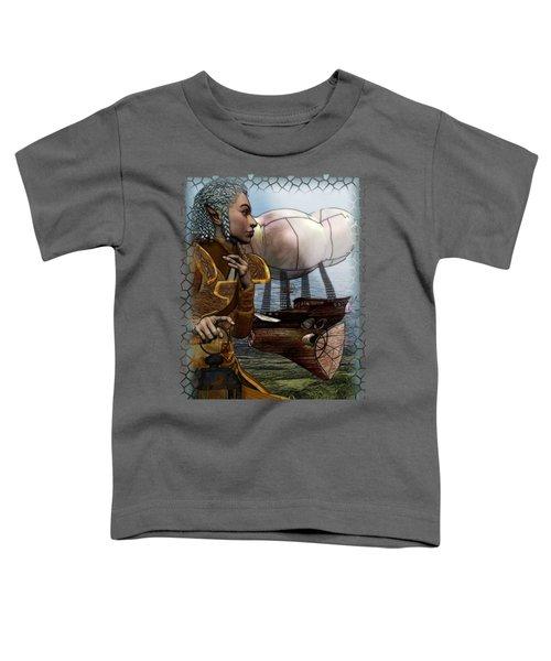 Airship Toddler T-Shirt by Sharon and Renee Lozen