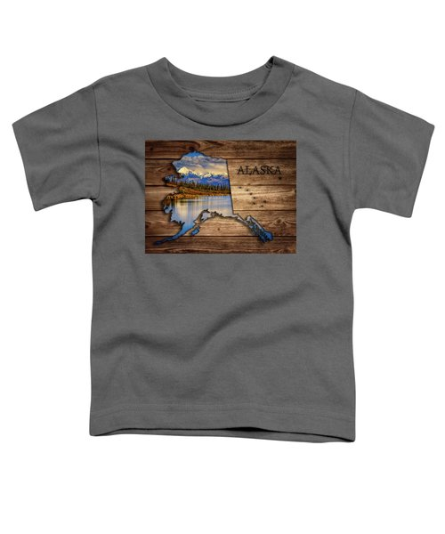 Alaska Map Collage Toddler T-Shirt