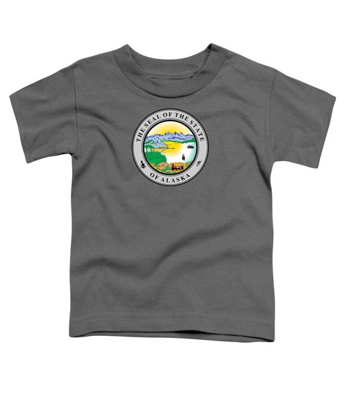 Alaska State Seal Toddler T-Shirt by Movie Poster Prints