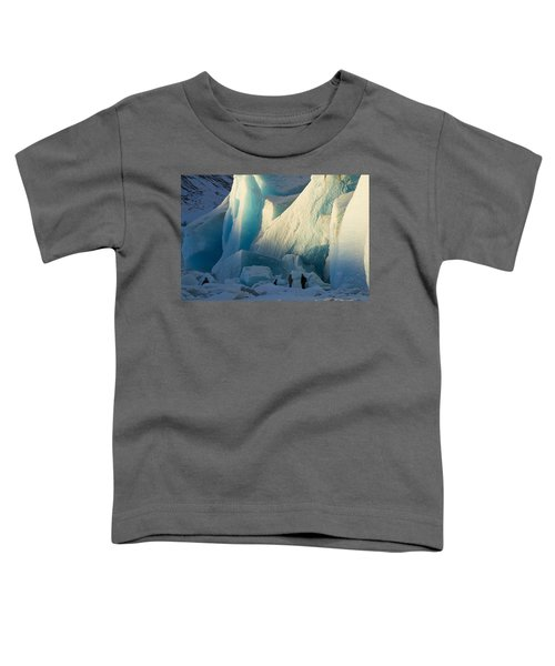 Toddler T-Shirt featuring the photograph Alaskan Glacier Last Rays Of Light by Yulia Kazansky
