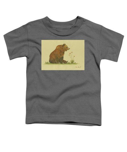 Alaskan Grizzly Bear Toddler T-Shirt